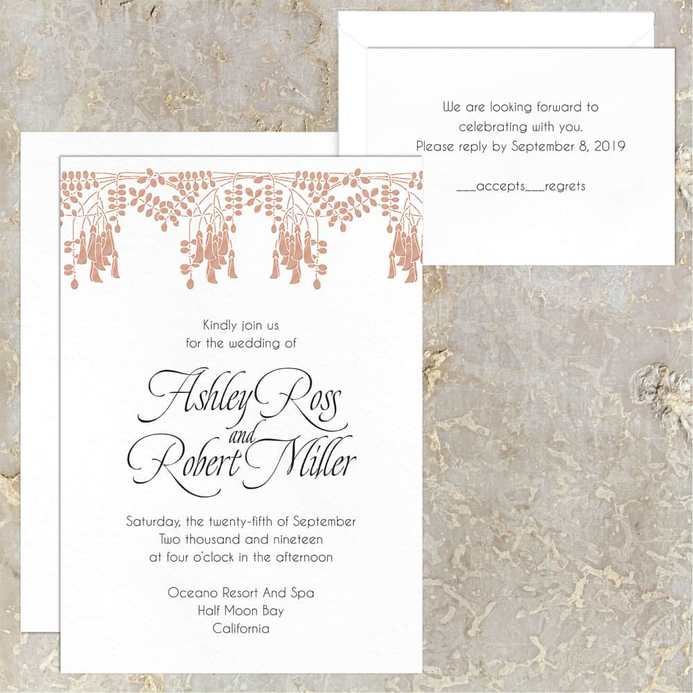 Regina Craft Acacia Blooms Wedding Invitation