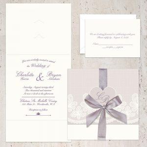 Regina Craft Amore di Champagne Wedding Invitation
