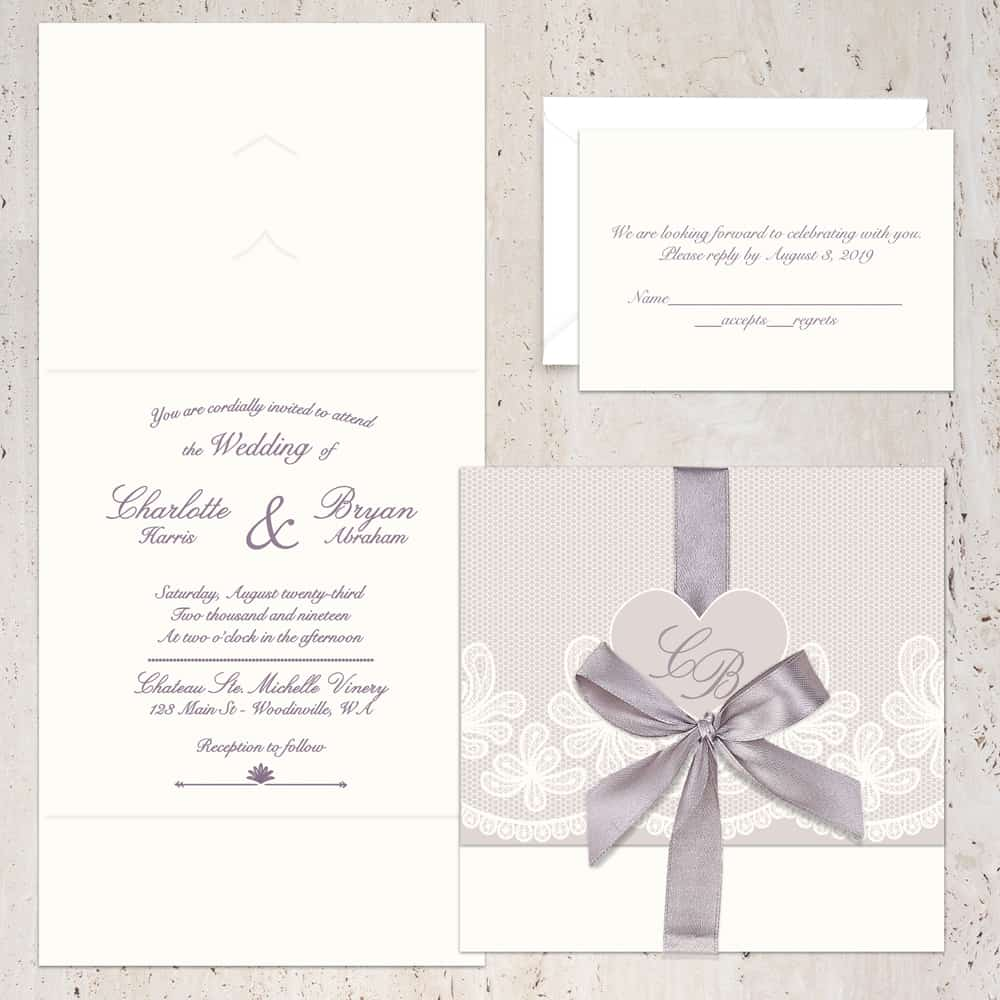 Regina Craft Amore di Champagne Wedding Invitation
