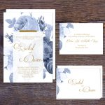 Regina Craft Blue Dream Floral Wedding Invitation