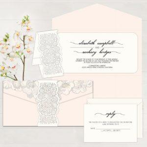 Regina Craft Bound In Place Wedding Invitation