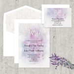 Regina Craft Brush Strokes Watercolor Wedding Invitation