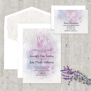 Regina Craft Brush Strokes Watercolor Wedding Invitation