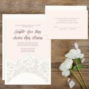 Regina Craft Chantilly Lace Wedding Invitation