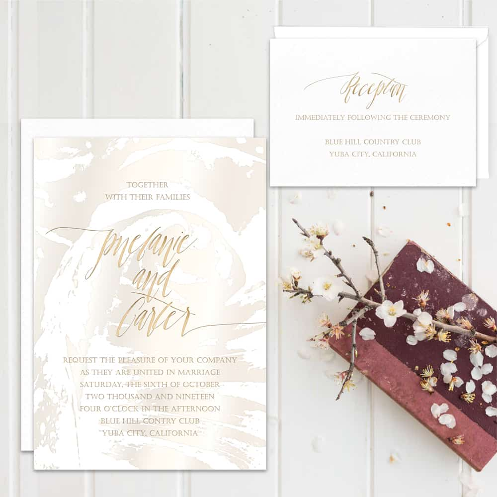 Charming Regina Craft Wedding Invitation