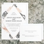 Regina Craft Copper Leaves Wedding Invitation
