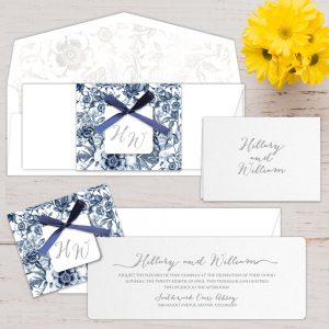 Regina Craft Dazzling Blooms Wedding Invitation