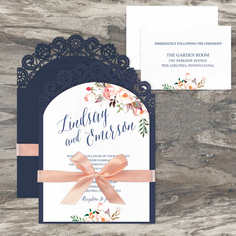 Regina Craft Delicate Arch Laser Cut Wedding Invitation