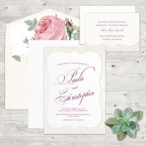 Regina Craft Delicate Sparkle Wedding Invitation