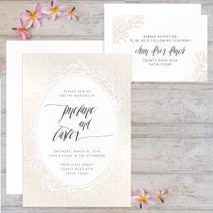 Regina Craft Delicate Wreath Wedding Invitation