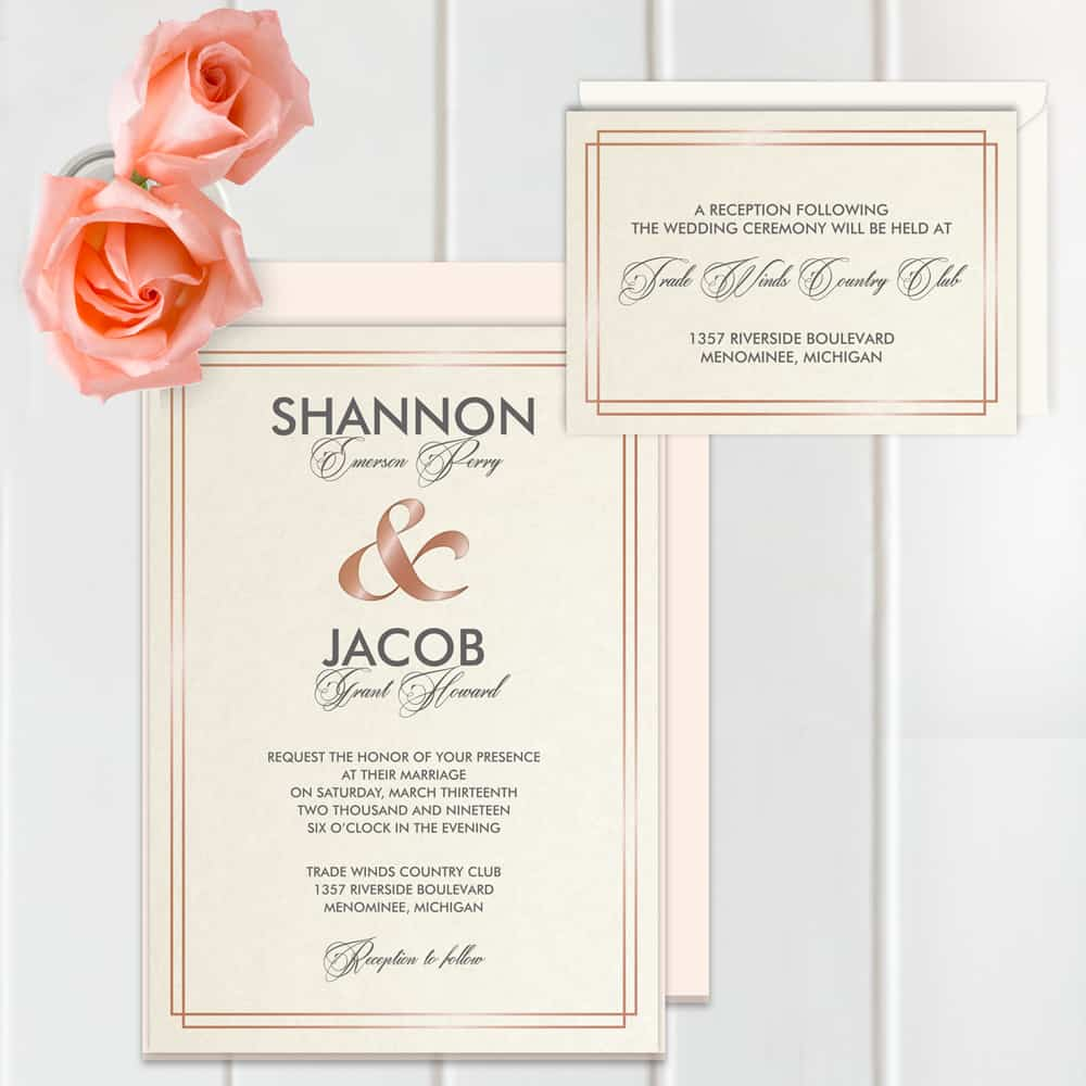 Regina Craft Everlasting Glam Foil Wedding Invitation