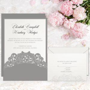 Regina Craft Exquisite Details Laser Cut Pocket Wedding Invitation