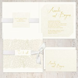 Regina Craft Fantasia Floral Wedding Invitation