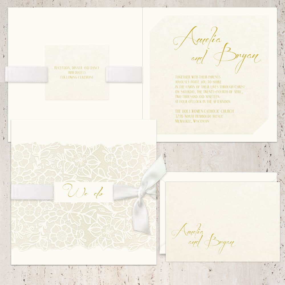 Regina Craft Fantasia Floral Wedding Invitation