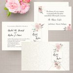Regina Craft Floral Branch Wedding Invitation