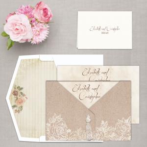 Regina Craft Floral Poem Wedding Invitation