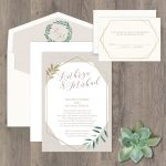 Regina Craft Fresh Greenery Wedding Invitation