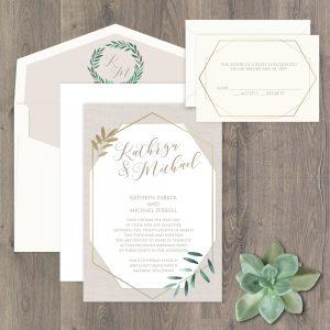 Regina Craft Fresh Greenery Wedding Invitation