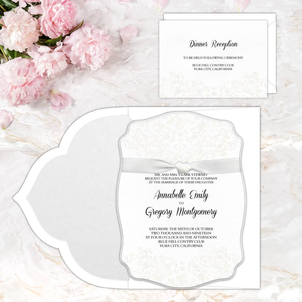 Regina Craft Glamorous Die Cut Wedding Invitation
