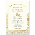 Regina Craft Gold Spotlights Art Deco Wedding Invitation