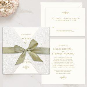 Regina Craft Graceful Lace Wedding Invitation