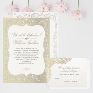 Regina Craft Haute Couture Laser Cut Wedding Invitation