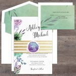 Regina Craft Jardin Painting Watercolor Wedding Invitation