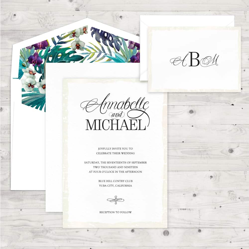 Regina Craft Just Elegance Wedding Invitation