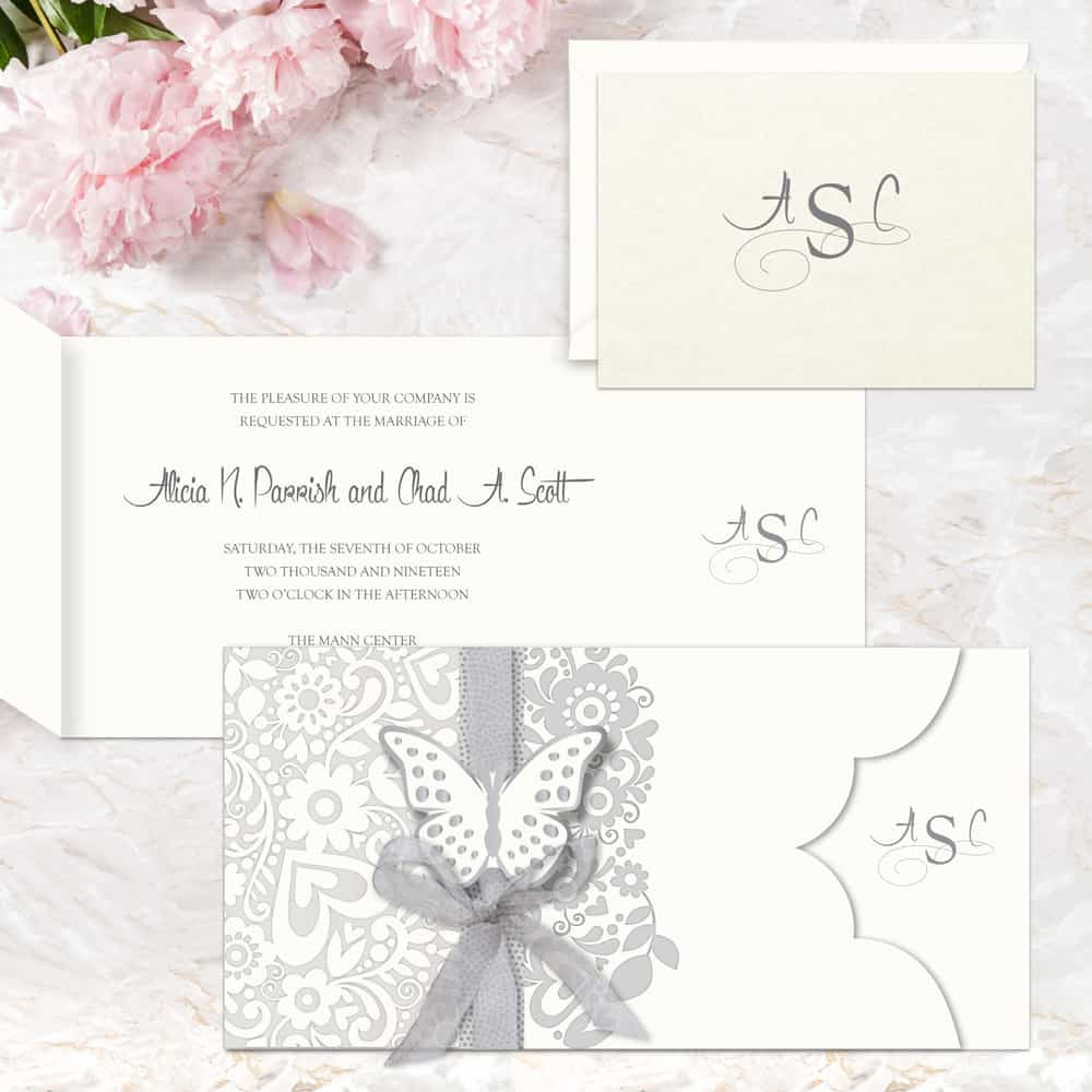 Regina Craft La Delicatezza Wedding Invitation