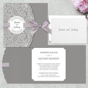 Regina Craft Lacy Stamp Wedding Invitation