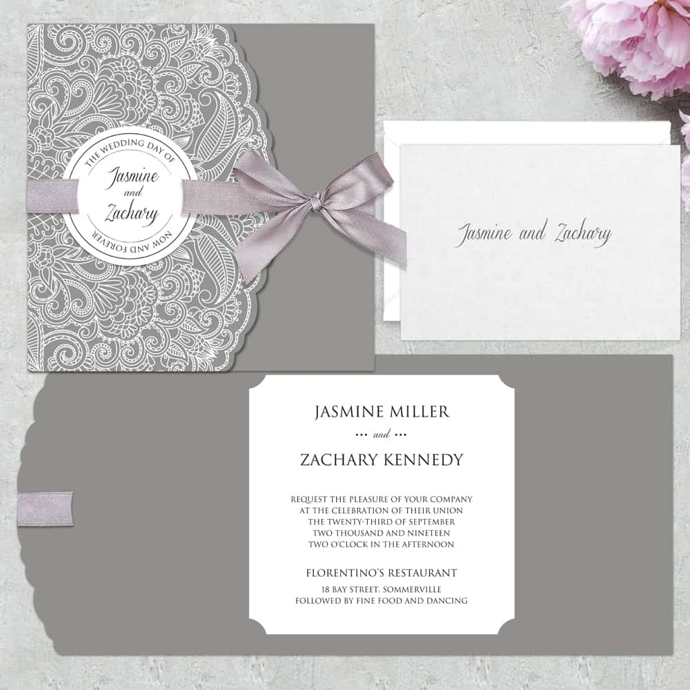 Regina Craft Lacy Stamp Wedding Invitation