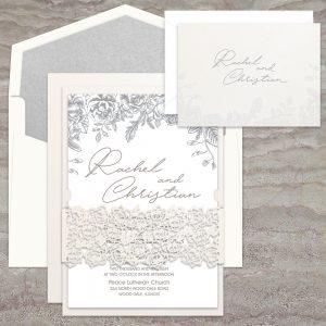 Regina Craft Laser Cut Belly Band Wedding Invitation