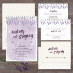 Regina Craft Lavender Watercolor Wedding Invitation