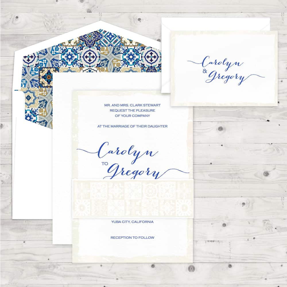 Regina Craft Moroccan Tiles Wedding Invitation
