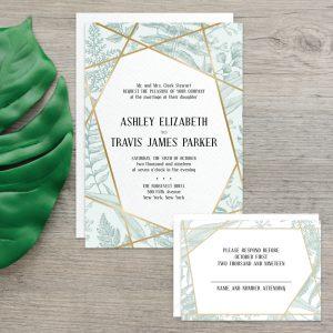 Regina Craft Natural Elegance Foil Wedding Invitation