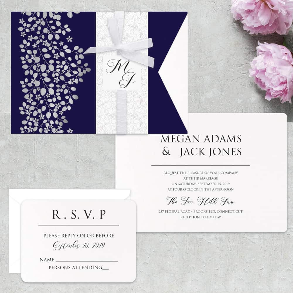 Regina Craft Natura Perlata Wedding Invitation