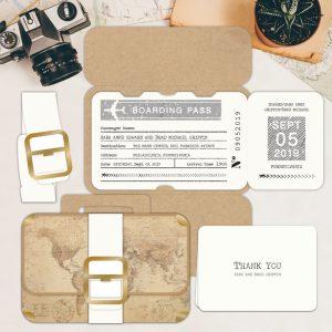 Regina Craft Pack Your Bags Wedding Invitation