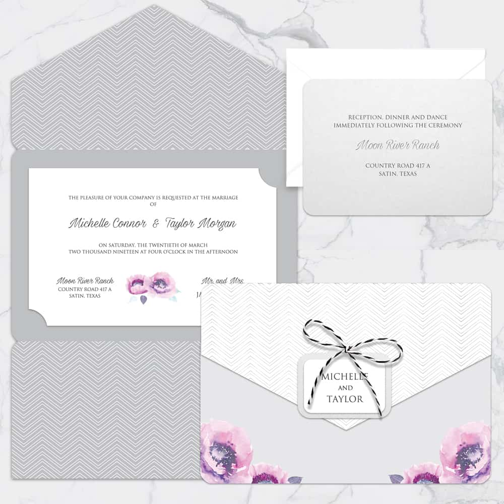 Regina Craft Poema di Fiori Wedding Invitation