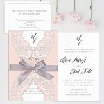 Regina Craft Precious Blush Laser Cut Wedding Invitation