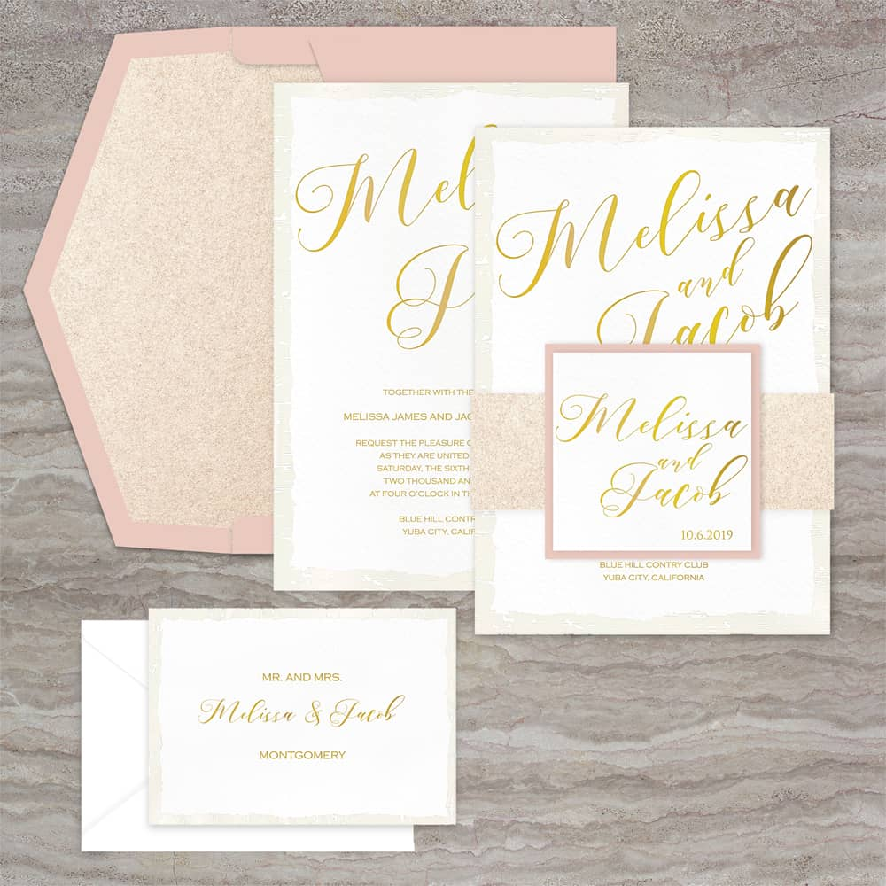 Regina Craft Pure Gold Wedding Invitation