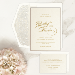 Regina Craft Pure Romance Wedding Invitation