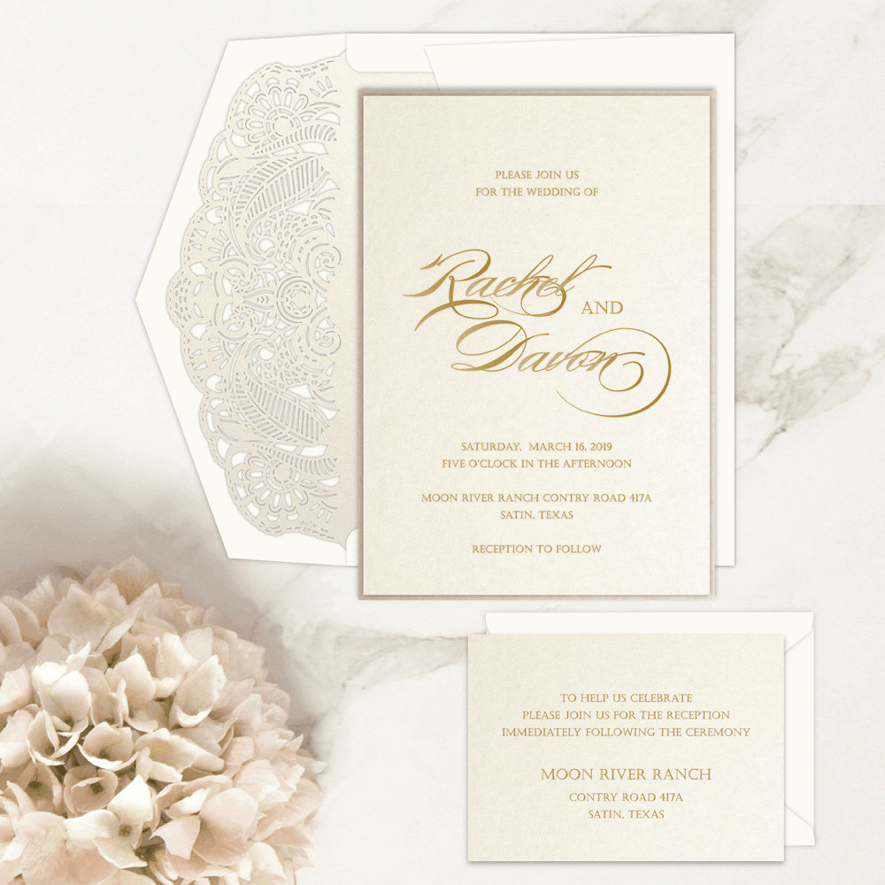 Regina Craft Pure Romance Wedding Invitation