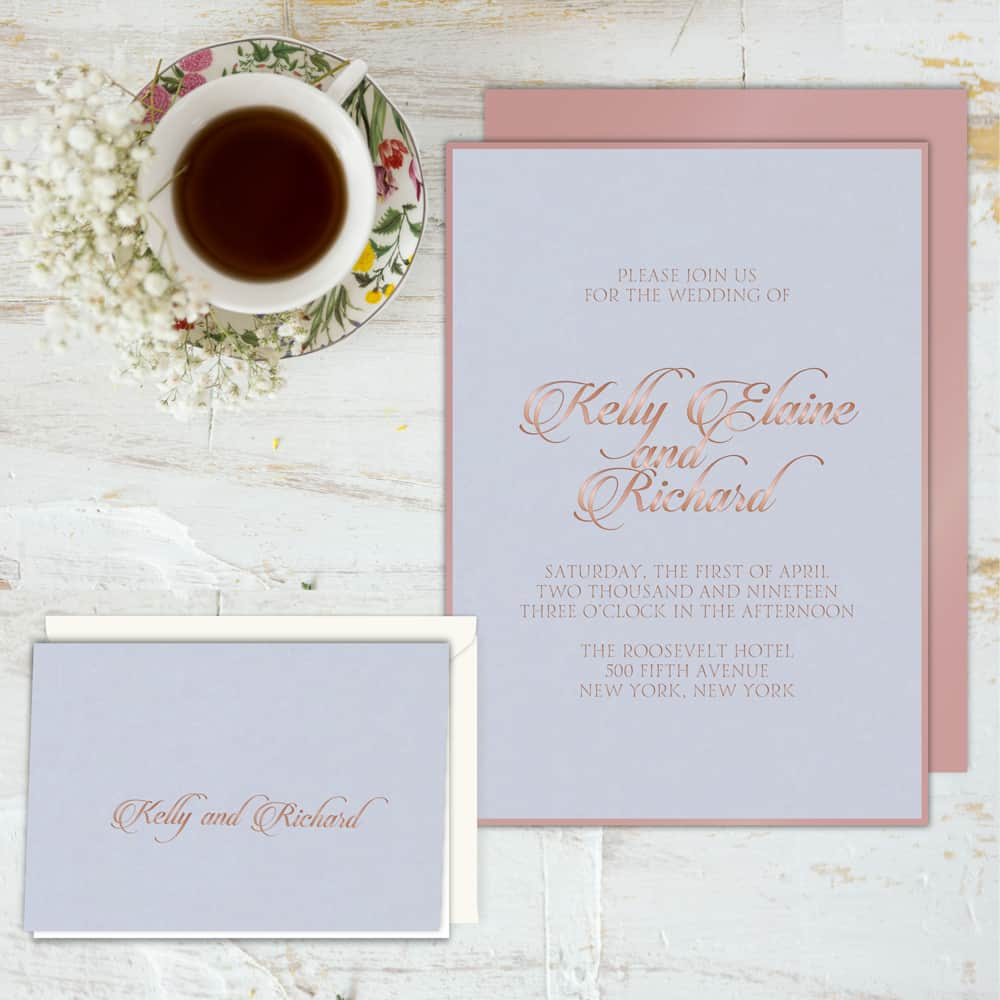 Regina Craft Royal Velvet Wedding Invitation