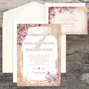 Regina Craft Rustic Jar Wedding Invitation