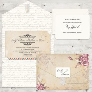 Regina Craft Rusty Rose Wedding Invitation