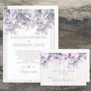 Regina Craft Silver Blossoms Wedding Invitation