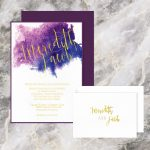 Regina Craft Splash of Colors Watercolor Wedding Invitation
