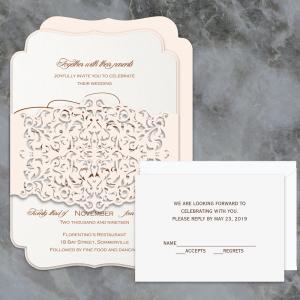 Regina Craft Timeless Flair Laser Cut Wedding Invitation