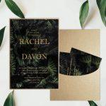 Regina Craft Tropical Night Moody Wedding Invitation