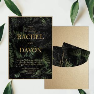 Regina Craft Tropical Night Moody Wedding Invitation